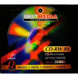 BEST MEDIA CD-REWRITABLE Premium CD-RW 80, Speed 1x-4x 80 Min/700MB High Quality