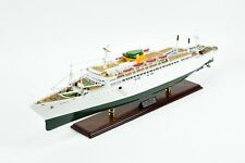 "SS Argentina Ocean Liner Handmade Wooden Ship Model 37.5"" Scale 1:200"