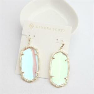 Kendra Scott Danielle Gold Drop Earrings in  Dichroic Glass