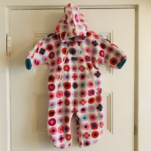 Patagonia Synchilla Fleece Baby Bunting Snowsuit Girls 6M ⭐️Amazing Condition⭐️