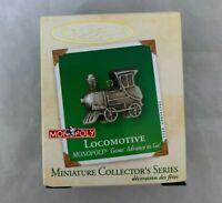 2002 Hallmark Keepsake Miniature Ornament Monopoly Locomotive Game Advance To Go