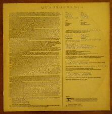THE WHO QUADROPHENIA ULTRA RARE ORIG ISRAELI LP