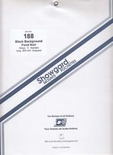 Showgard Stamp Mount Strips For US Sheets Hollywood, etc 188mm Black Pck Of 5