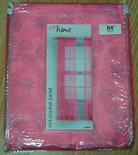 "ROD-POCKET CURTAIN PANEL SHEER, PINK ""ZUMA"" 54''X84''"