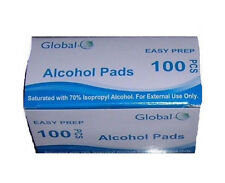 100 GLOBAL EASY PREP ALCOHOL PREP PADS (isopropyl alcohol) SWABS WIPES NEW