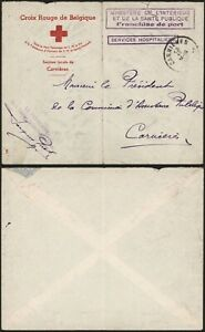 Belgium WWII 1944 - Red Cross Cover Carnières C84