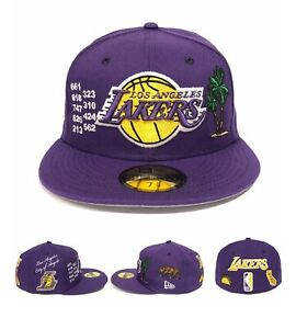 Los Angeles Lakers LOCAL MARKET PACK Side Patch New Era 59FIFTY Fitted Hat Cap