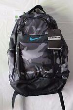NWT NIKE Ultimatum Gear Laptop Backpack Bag BA5089-004 Anthracite Camo/Blue $120