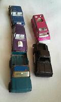 Vintage Lot of 5 Tootsie Toy Calif Van Vega Jeepster Chevy Stepside 1978 Tonka