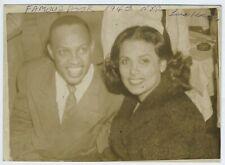 Lena HORNE, Lionel HAMPTON (Jazz) & Max BAER (Boxing): Two Photographs