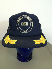 Vtg 70s Csx Railroad Train Howell Evansville Indiana Snapback Hat Cap L&N Wings