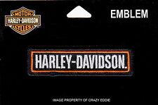 HARLEY DAVIDSON HD NAME VEST PATCH STRAIGHT BAR BIKER MOTORCYCLE JACKET PATCH