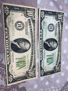 2 X 10 $ 1934A 1928B