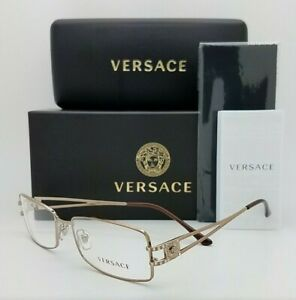NEW Versace RX Frame Glasses VE1092B 1045 53 Light Brown AUTHENTIC women's metal
