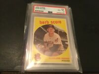1959 Topps #88 Herb Score Cleveland Indians - PSA 8 NM-MT