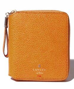 NEW LANVIN en Bleu Isabel Round Bi-Fold Wallet Leather women wallet