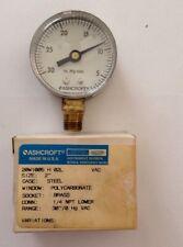 Ashcroft Two Inch Vac Gauge, Dry, 20W1005 H02L