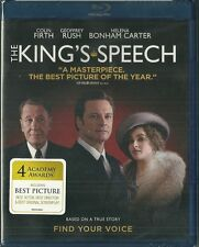 NEW Sealed Blu Ray - The Kings Speech - Colin Firth - Oscar Best Picture Winner