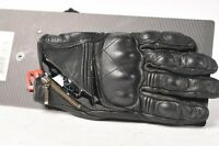 Five Sport City Black Leather Women's Motorcycle Gloves MEDIUM M/9  555-03996