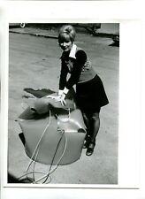 Vintage Press Photo 1975 Du Pont Big Dipper Buckets for Forest Fires Adiprene