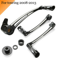 CNC Cut Shift Lever W/ Shift Pegs Brake Arm Kit For Harley Touring FLHX 2008-13