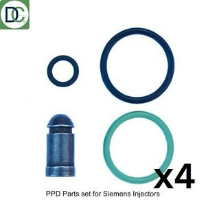 VW Golf Mk V 2.0 TDi 170 HP Siemens Diesel PPD Injector Seal Repair Kit x 4