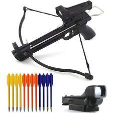 Mini 50 Lb Archery Pistol Gun Crossbow w/ Red Dot Scope & 15 Arrows Bolts