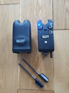 Blue Delkim TXi plus bite alarm with snag ears hard case in great condition.
