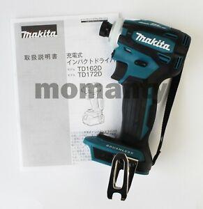 "Makita TD172D Impact Driver TD 172 DZ Blue 18V 1/4"" Brushless Cordless Tool Only"