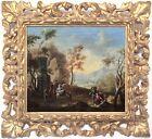 Classical Landscape Antique Old Master Oil Painting 18th Century Italian School