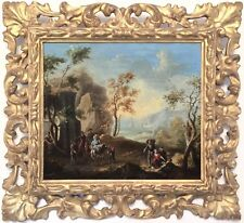Classical Landscape Antique Old Master Oil Painting 18th Century Italian School
