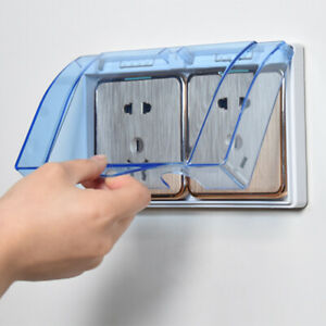 Home 2-Gang Wall Socket Waterproof Cover Outlet Case Panel Switch Box Protector