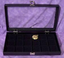 Pocket Watch/ Jewelry 18 Slot Glass Top Jewelry Display
