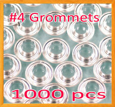 """1000 #4 1/2"""" Grommet and washer Nickel Eyelet Grommets Machine Sign Punch Tool"""