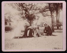 1896 Cabinet Card Photo of 5 Women in Their Sunday Bonnets from Menomonie, WI