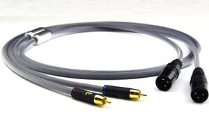 Audio cable Hifi 2 RCA Male to 2 XLR Male Audio Cable High Quality Dual RCA