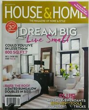 House & Home Sept 2016 Dream Big Live Small Dated Bungalow FREE SHIPPING sb