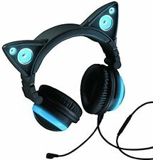 Wired Cat Ear Headphones turn on the cat ear speakers to share with friends