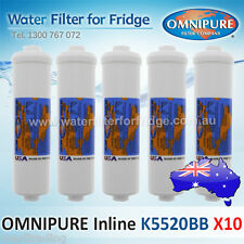 10x Omnipure Carbon K5520BB Block In-Line Water Filters