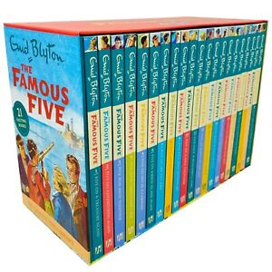 The Famous Five Library Books 1 - 21 Collection Box Set by Enid Blyton