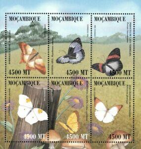 Mozambique 2000 - Butterflies - Sheet of 6 - Scott 1366 - MNH
