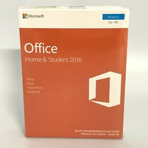 New Microsoft Home & Student 2016 German Edition Office 365 12099 CP