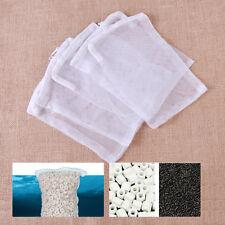 5x Nylon Aquarium Fish Tank Pond Filter Media Zip Mesh Net Bag Zipper White Tool