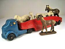 """AUBURN RUBBER 1938 GMC Truck & Semi Trailer With Original Livestock Load 11.5"""""""