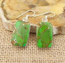 Verde Rame Turchese 925 Argento Orecchini Indiano Gioielli