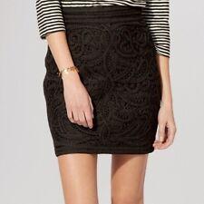 Maje Crochet Black Mini Skirt Size 36 (4-6)