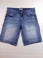 Banana Republic Women's Medium Wash Blue Denim Boyfriend Rollup Shorts SZ 29 G1