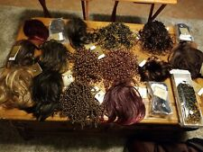 NWT Black and Gold new hair wigs various colors Huge lot of 18