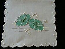 Beautiful Vintage MADEIRA Linen Handkerchief Case Hand Embroidered PRISTINE