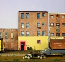 #116HO scale background building flat   CUYAHOGA ART   *FREE SHIPPING*